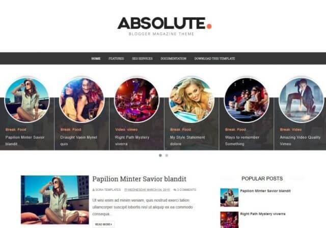 Absolute Blogger Template 2020- Deeanatech.com