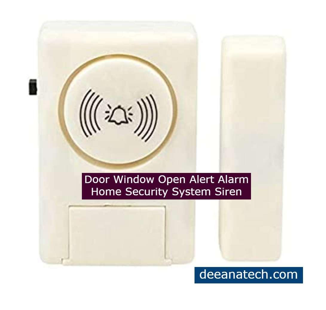 Door Window Open Alert Alarm Home Security System Siren