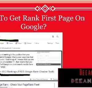 Rank 1st on google, How my website ranked first page of google