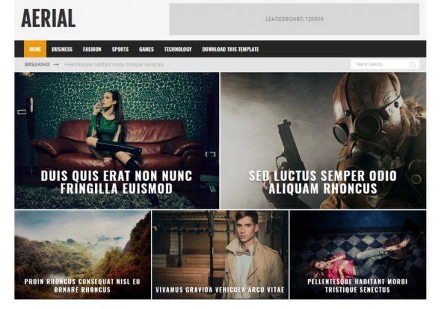 Aerial-Blogger-Template-sabmera-Blogger News website Theme- deeanatech.com