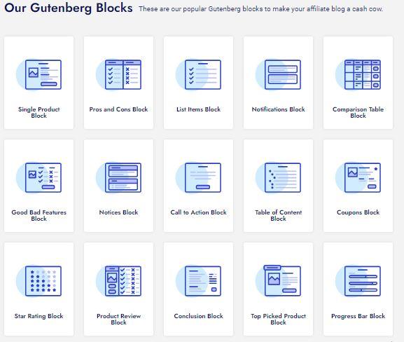 Gutenberg Blocks in Affiliate Booster theme