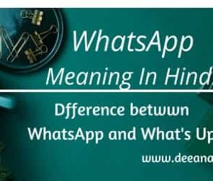 WhatsApp Meaning In Hindi_ What Does WhatsApp Web Mean